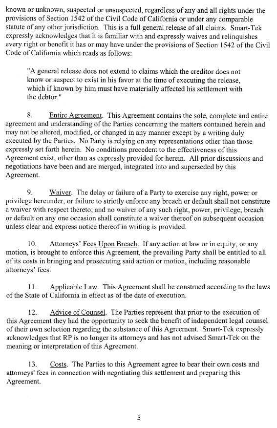 Trucept inc form 10 k ex 1010 settlement agreement and trucept inc form 10 k ex 1010 settlement agreement and general release october 13 2009 platinumwayz