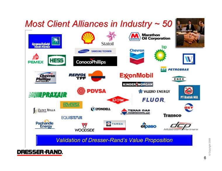 Most Client Alliances In Industry 50 Validation Of Dresser Rand S Value Proposition 6