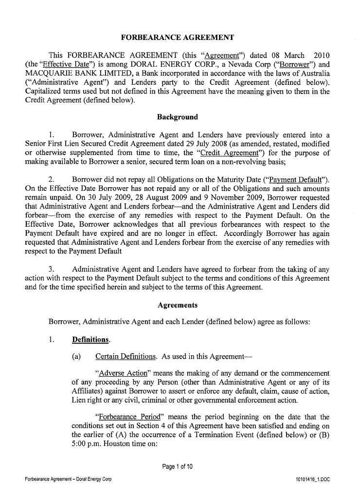 Cross Border Resources Inc Form 10 Q Ex 1044 Macquarie