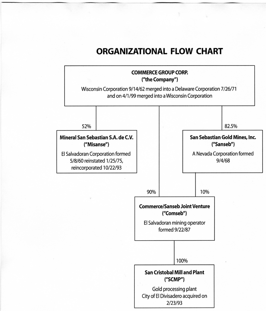 The organizational chart on