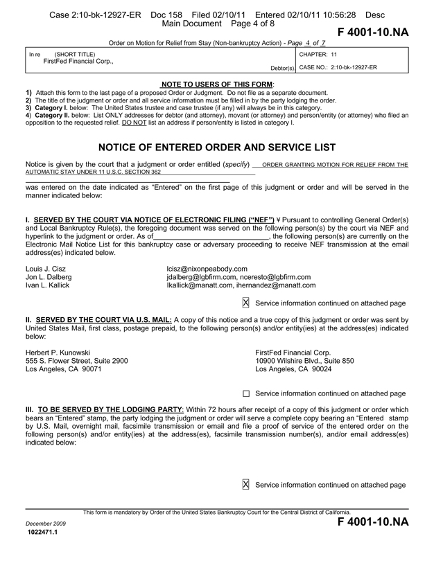Firstfed Financial Corp  Form K  Ex  Press Release  March