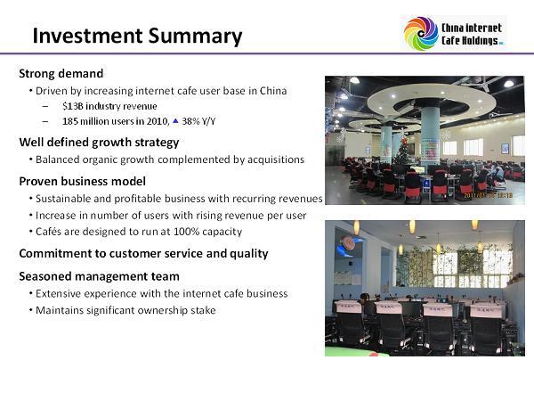 China Internet Cafe Holdings Group, Inc. - FORM 8-K - EX-99.1 ...