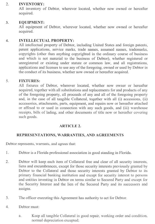 ChatChing Inc FORM S1 EX107 SECURITY AGREEMENT PALIN – Security Agreement