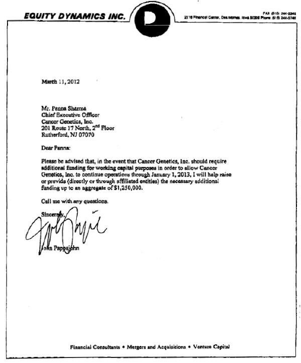... - FORM S-1/A - EX-10.42 - FUNDING COMMITMENT LETTER - April 2, 2012