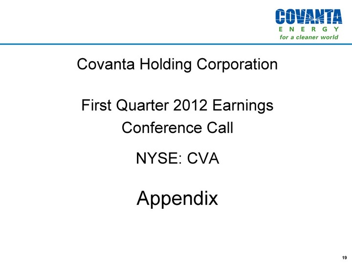 COVANTA HOLDING CORP - FORM 8-K - EX-99.2 - EARNINGS ...